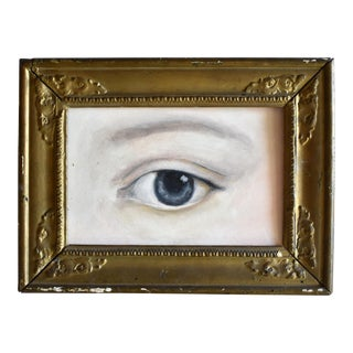 Contemporary Lover's Eye Portrait in an 18th-Century Gilt Frame by S. Carson For Sale