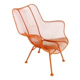 Image of Mid-Century Modern Russell Woodard Sculptura Outdoor Wrought Iron Lounge Chair For Sale