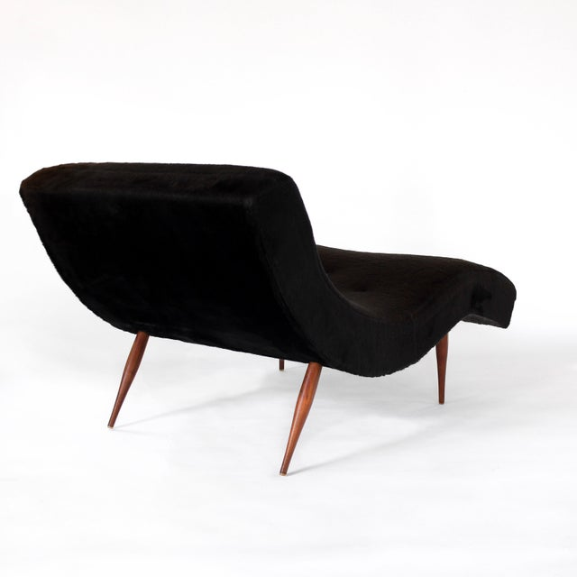Mid-Century Modern Adrian Pearsall for Craft Associates Mid-Century Modern Wave Chaise Lounge Chair For Sale - Image 3 of 6