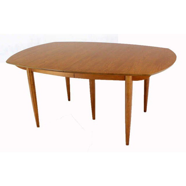 John Stuart Mid Century Modern Walnut Dining Table with Two Leaves For Sale - Image 10 of 10