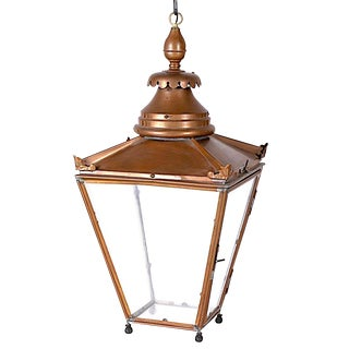 Monumental- 3 Ft Tall - English Copper Lantern For Sale