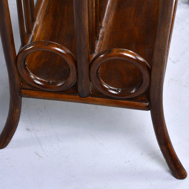 Brown Early Thonet Bentwood Magazine Rack For Sale - Image 8 of 12