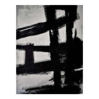 """Modern Abstract Painting - """"Concrete No. 3 Black Kline"""" For Sale"""