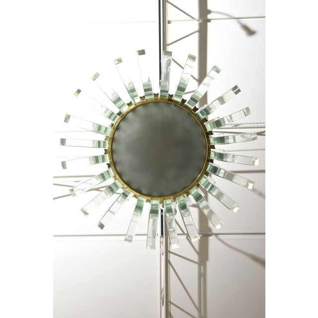 Rare Fontana Arte Glass Chandelier, Italy, 1950s For Sale In Miami - Image 6 of 9