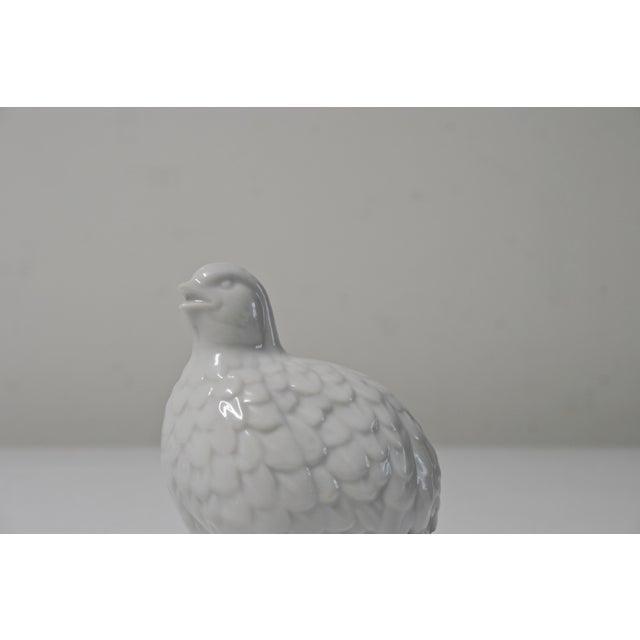 Ceramic White Porcelain Partridges - a Pair For Sale - Image 7 of 8