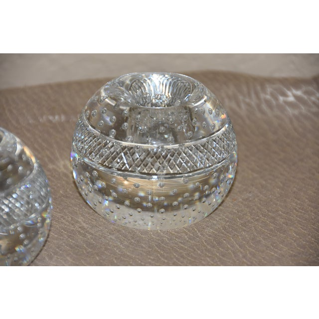 Mid-Century Crystal Match Holder With Striker Marked Webb For Sale In Palm Springs - Image 6 of 12