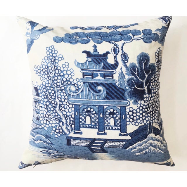 Chinoiserie Lee Jofa Willow Chinoiserie Pillow For Sale - Image 3 of 3