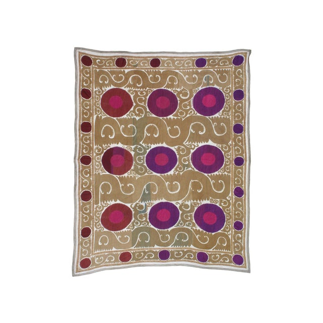 Textile Samarkand Suzani For Sale - Image 7 of 7