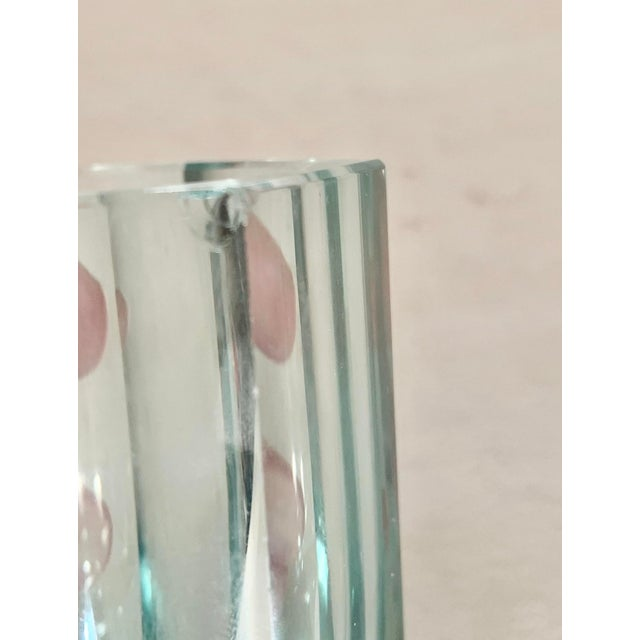 Early 21st Century Moser Modern Turquoise Crystal Votives - Set of 2 For Sale - Image 5 of 7