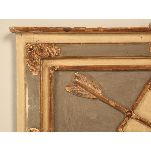 Early 20th Century Antique Diamond & Crossed Arrows French Directoire Mirror For Sale - Image 5 of 10