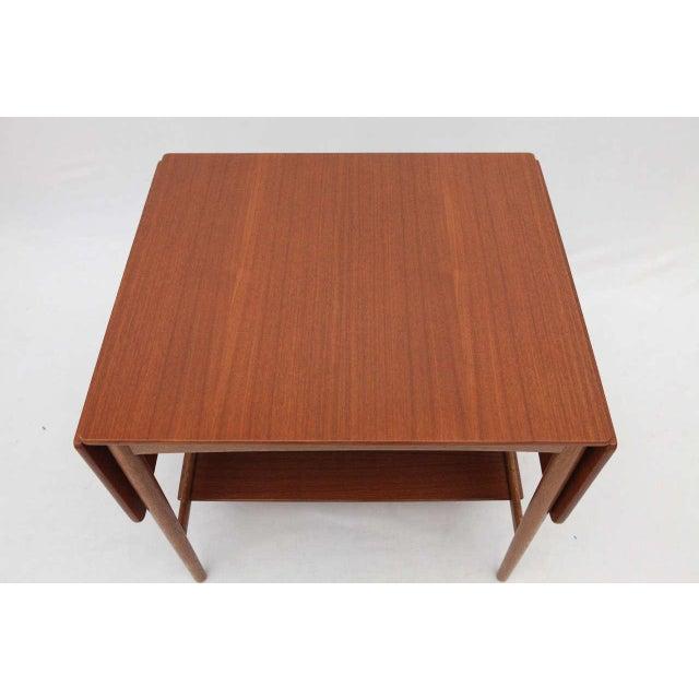 Hans Wegner Drop Leaf Side Table - Image 4 of 9