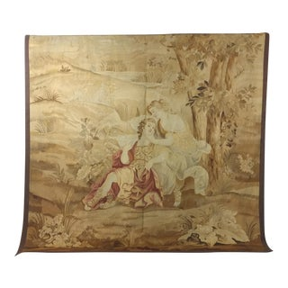 19th century Beautiful Antique French Aubusson Tapestry For Sale