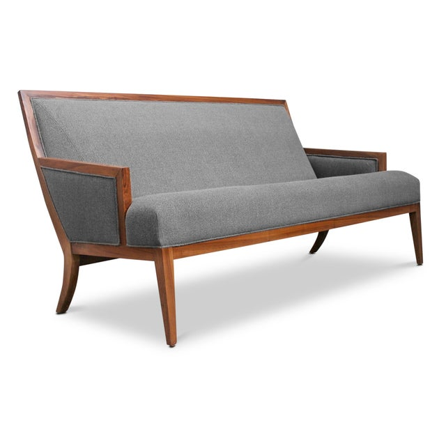 The Belgrano settee is inspired by mid-twentieth century modernist design and can be customized into any size. Shown in...