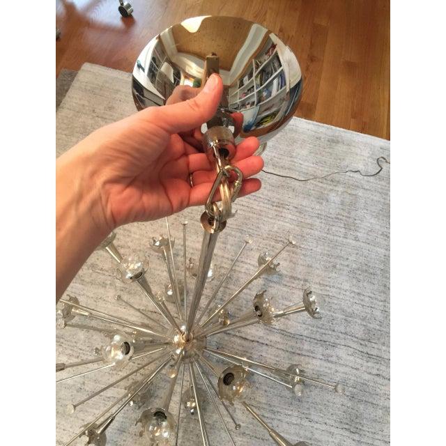 Jonathan Adler Polished Nickel Sputnik Chandelier For Sale In Raleigh - Image 6 of 7