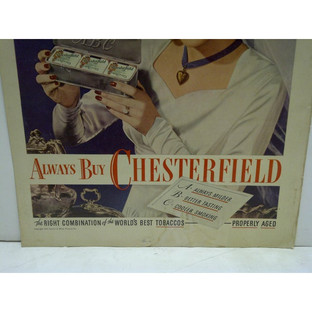 Vintage Chesterfield Cigarettes Advertising Magazine Page - Image 3 of 3
