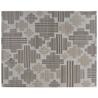 Stark Studio Rugs Contemporary New Oriental Tibetan 65% Viscose /15% Wool /20% Cotton - 8′1″ × 9′11″ For Sale