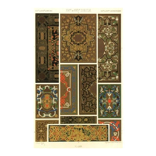 Stone Lithograph - 17th-C. Design Elements, C. 1890