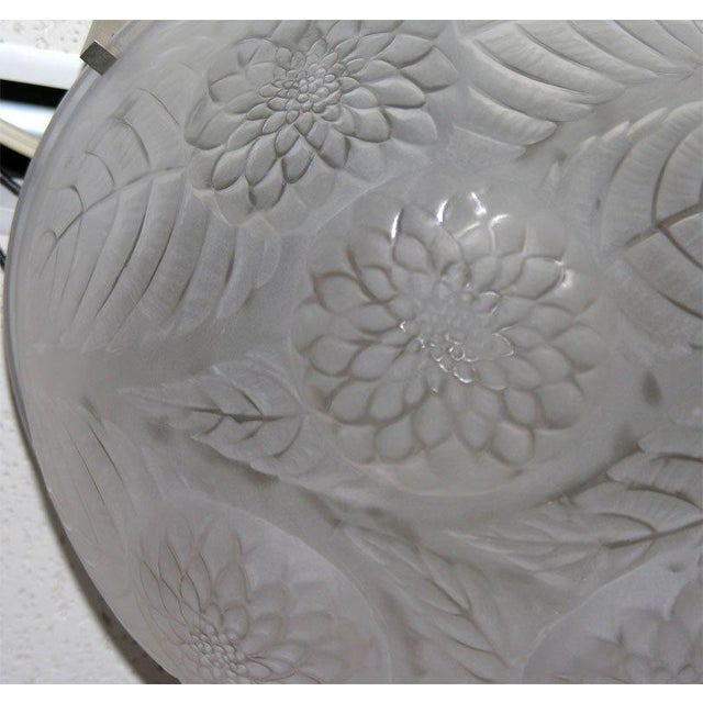 "Lalique Lalique ""Dahlias"" Ceiling Fixture For Sale - Image 4 of 5"