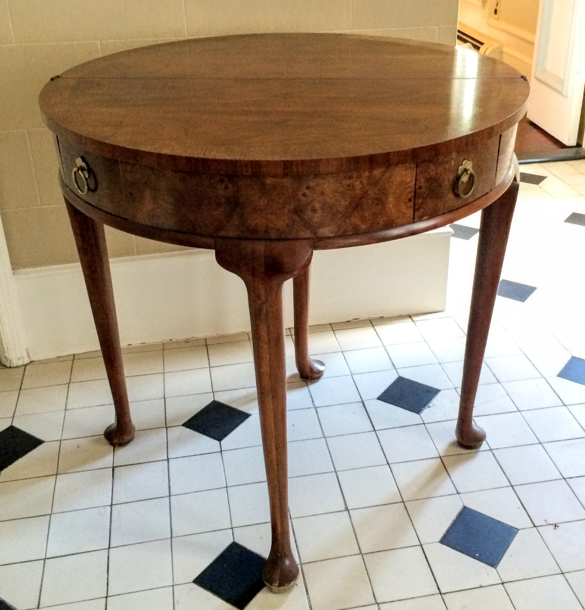 Baker Furniture Georgian Round Flip Top Demilune Table   Image 2 Of 11