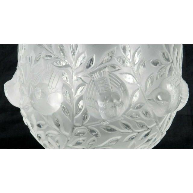 1970s Lalique France Elizabeth Pedestal Footed Bowl For Sale - Image 5 of 8