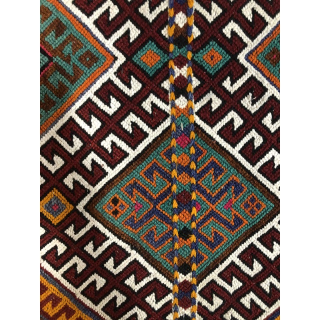 Turkish Kilim Floor Cushion For Sale - Image 4 of 11
