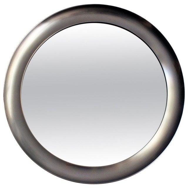 1960´s Narciso mirror by Sergio Mazza, aluminium frame - Italy For Sale - Image 9 of 9