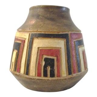 Italian Mid-Century Modern Pottery Vase For Sale