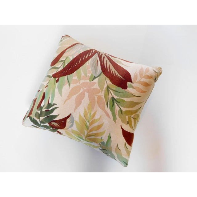 This sweet pillow is custom made. Features a zipper for easy removal. Has a cotton front with a Camel color velvet back.