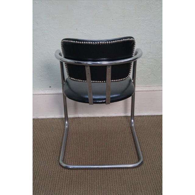 Chromecraft Vintage Mid Century Modern Arm Chair For Sale - Image 4 of 10