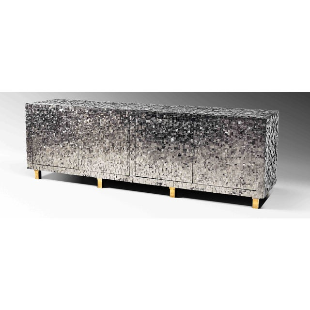 KAM TIN Pyrite sideboard Sideboard covered of iron pyrite on a wood structure with brass finishes This is the most...