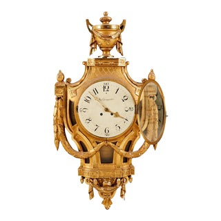 Gustavian Antique Wall Clock For Sale