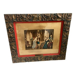 """""""Introducing The Bride"""" Print in Ornate Victorian Frame For Sale"""