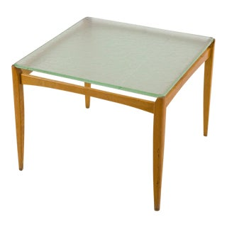 Axel Larsson Table with Glass Top, Bodafors, Sweden, 1930s For Sale