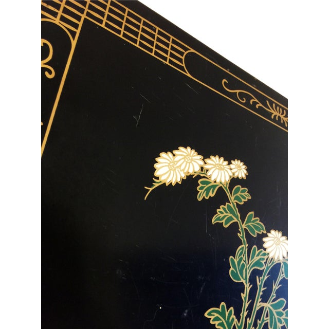1970s Chinoiserie Lacquered Chest For Sale - Image 10 of 11