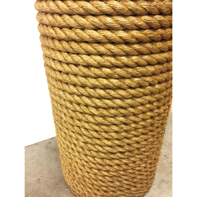 Oversized Rope Base Table Lamp For Sale In San Francisco - Image 6 of 6