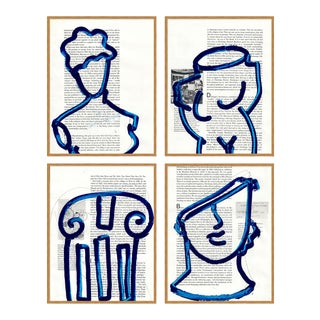 Architectural Details Set of 4 by Virginia Chamlee in Gold Frame, XS Art Print For Sale