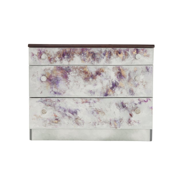 Acrylic Paint Where Did He Go?, Hand-Painted Chest of Drawers by Atelier Miru For Sale - Image 7 of 7