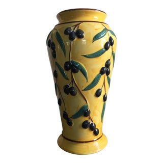 French Country Olive Umbrella Stand For Sale