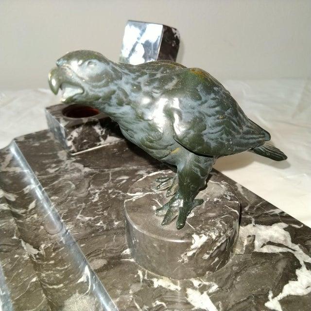 Black Marble Desk Set For Sale - Image 4 of 5