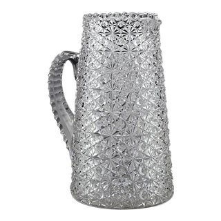 American Brilliant Cut Glass Pitcher, Russian Pattern