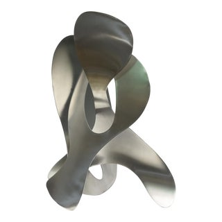 Two Stainless Steel Abstract Sculptures, Jack Arnold For Sale