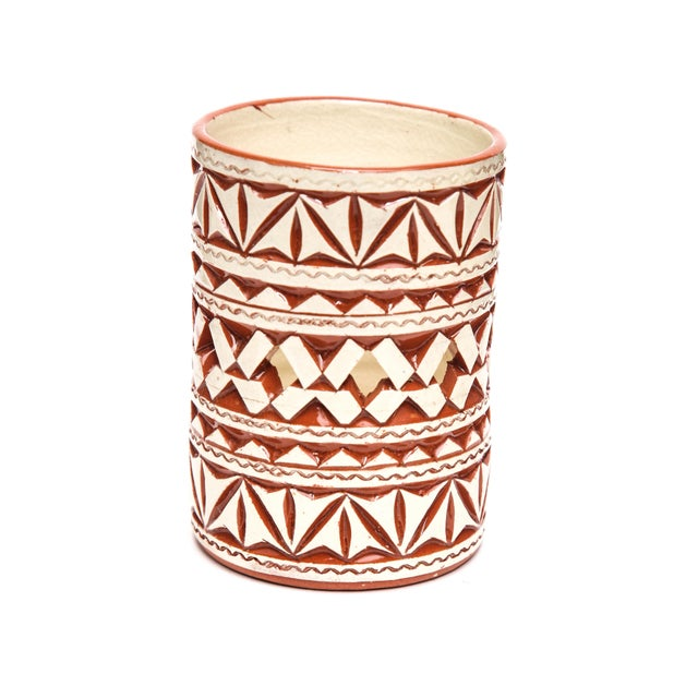 Add a touch of exotic distinction with this Atlas ceramic candle holder handcrafted by master craftsmen to illuminate any...