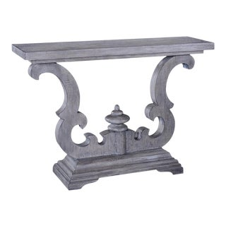 Console Table Cambridge Weathered Gray Solid For Sale