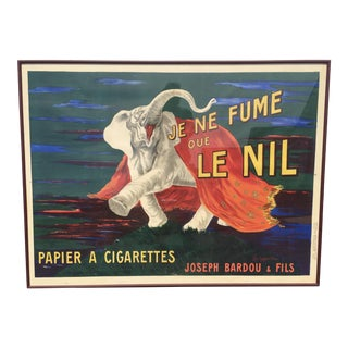 1912 French Elephant Cigarette Poster