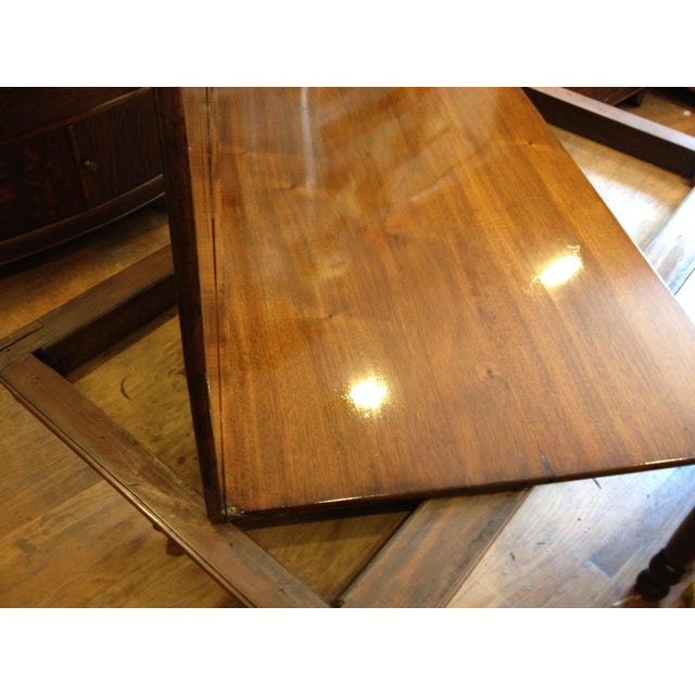 Empire Burl Mahogany Swivel Top Game Table For Sale - Image 10 of 13