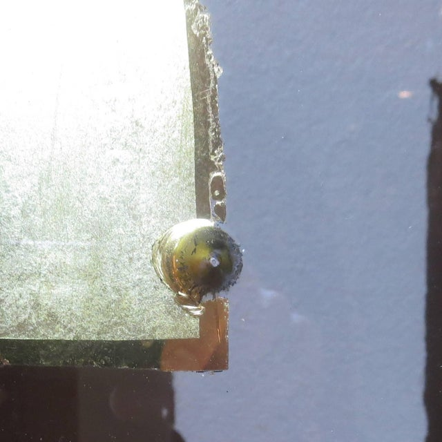 Glass Folk Art Gilded Window From Sign Painters Storefront For Sale - Image 7 of 9