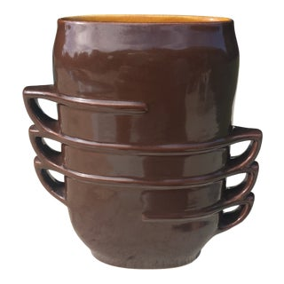 1960s Red Wing Pottery Op Art Style Contemporary Vase For Sale