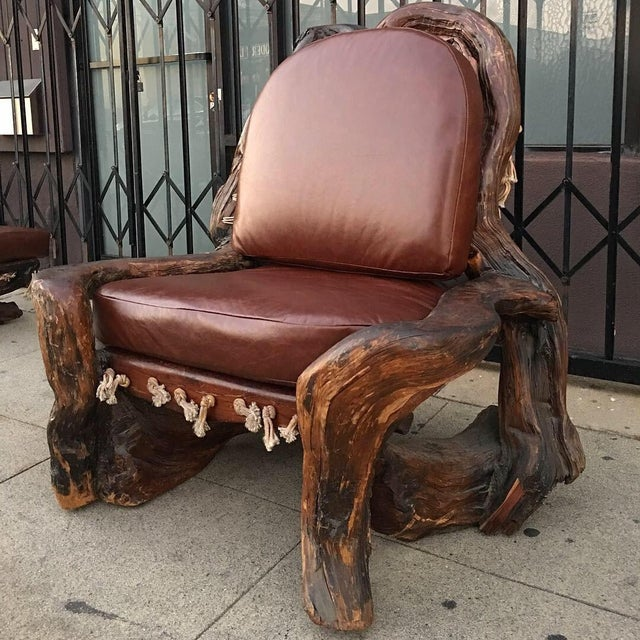 Miraculous Handcrafted Live Burl Redwood Armchair By Daryl Stokes Download Free Architecture Designs Scobabritishbridgeorg