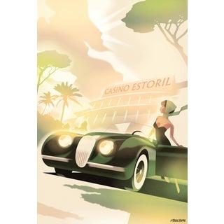 2020 Modern Danish Mads Berg Poster, Estoril Casino For Sale