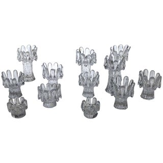 Set of 12 Crystal Candleholders For Sale